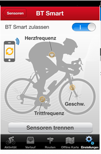 i-gotU Pulsmesser runtastic-App