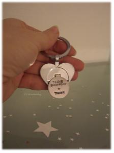 Troika Schlüsselanhänger mit Chip für Einkaufswagen