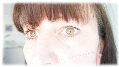 Hier seht Ihr mein dezentes Augen-Make-Up