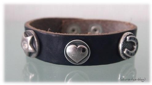 Leder Bandie Armband