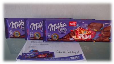 mein neues Testprodukt: Milka Choco Jelly