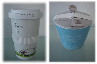 Coffee-to-go-Becher und Snack-to-Go-Becher
