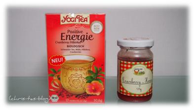 neuer Tee und Cranberry-Honig