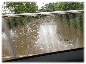 Hochwasser Brücke Mittelfranken