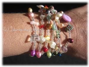 wunderschöne Perlenkette auch als Armband tragen