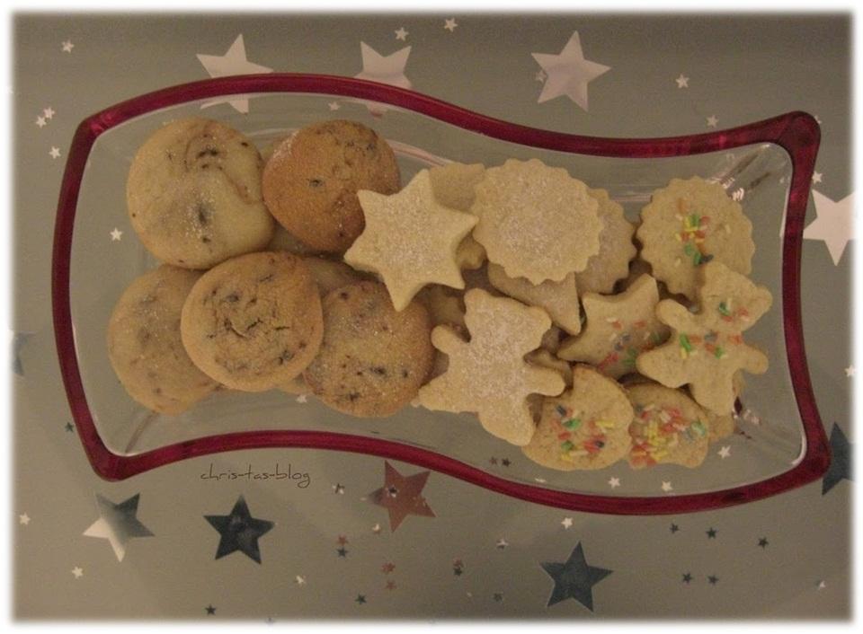 leckere Kekse zu Weihnachtszeit