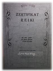 Reiki-Zertifikat