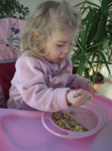 Virginia liebt ihre Bärchen-Nudeln
