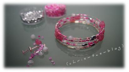 rosa Wickelarmband DIY