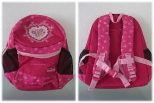 rucksack Scouty in pink mit Herz