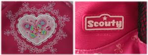 hübsche Details auf dem Scouty Rucksack