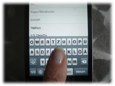 kleines Tastenfeld beim iphone