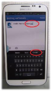 Worterkennung beim Samsung Galaxy Note II