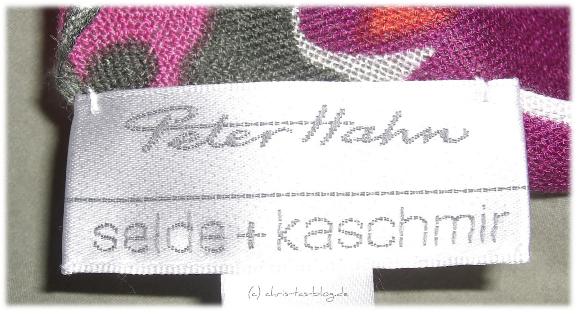 schal - label von Peter Hahn
