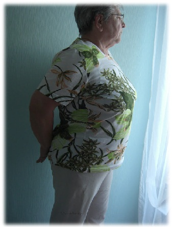 Hüftsturzslip unter Kleidung nicht sichtbar