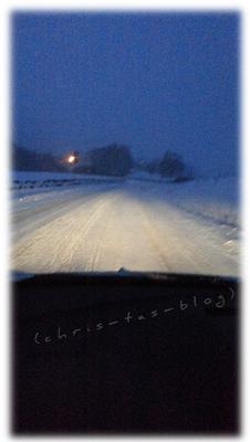 verschneite Straßen 29.12.2014