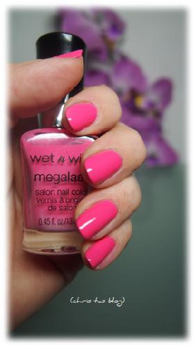 wet n wild® Mega Last® Farbe aufgetragen Candy-licious