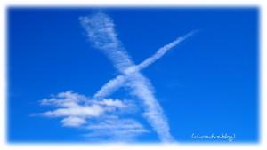 wolken X am Himmel